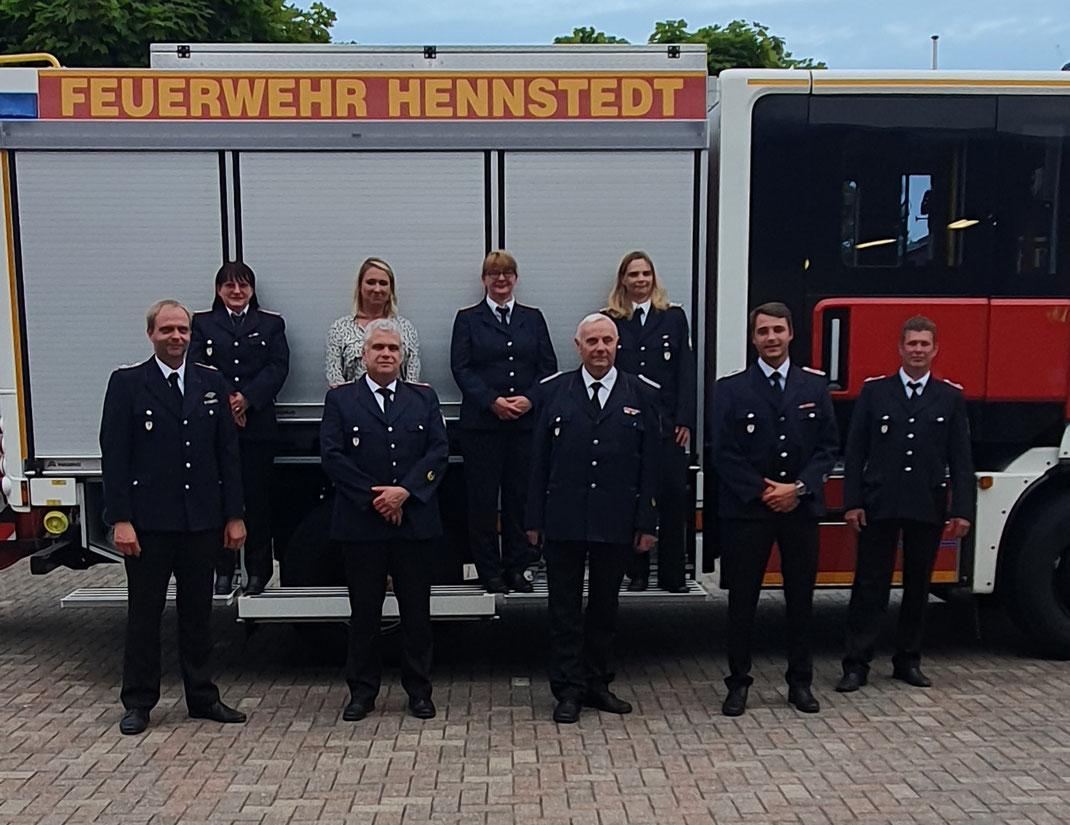 Von links nach rechts: Björn Andersson, Christel Molch-Dithmer, Anne Riecke, Carsten Ihlo,  Manuela Kauf, Jens-Uwe Andersson, Maleen Martens, Marco Furcas, Jens Thiessen