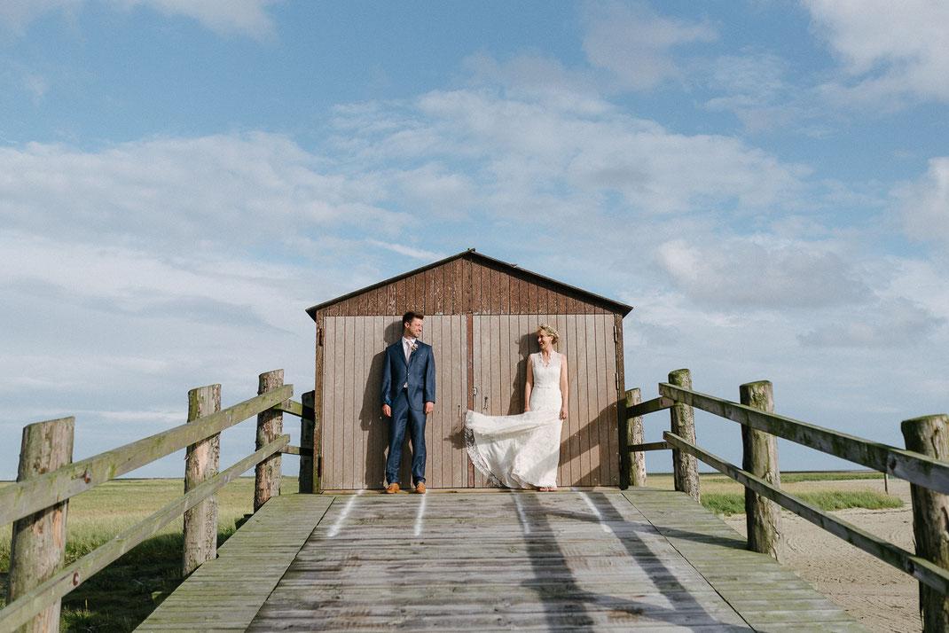 Strandhaus Hochzeit Paar Fotograf