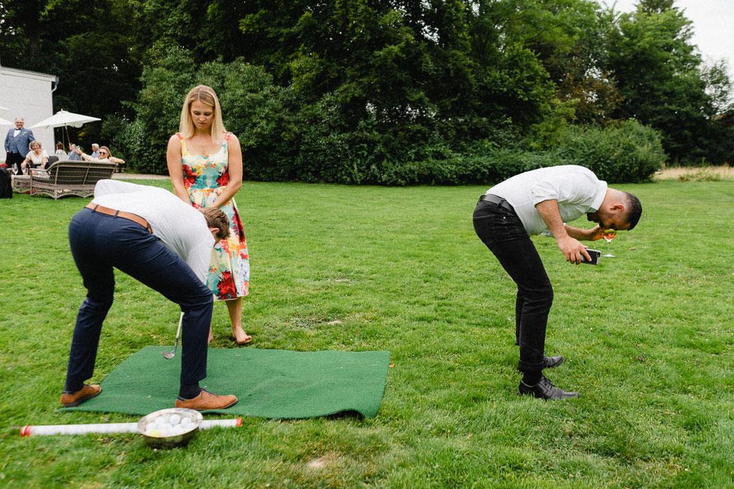 Witzig Hochzeit Golf Grün