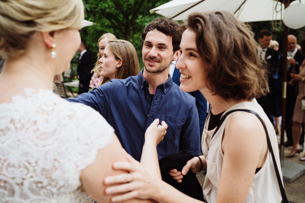 Gratulation der Braut
