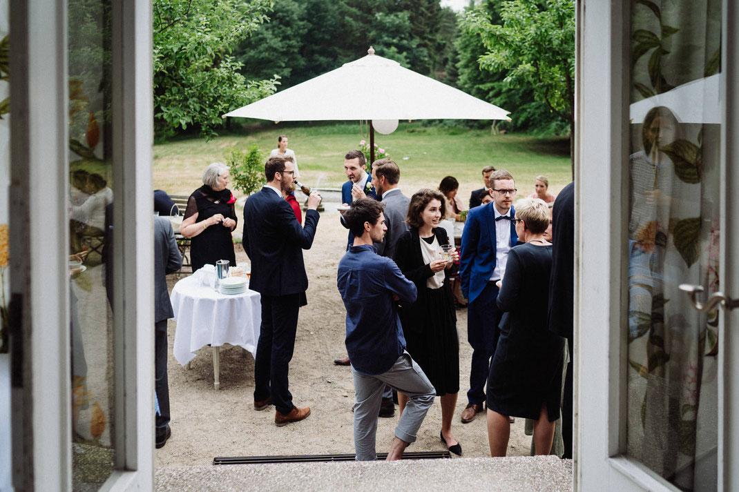 Empfang Hochzeit Mölln Menschen Fenster