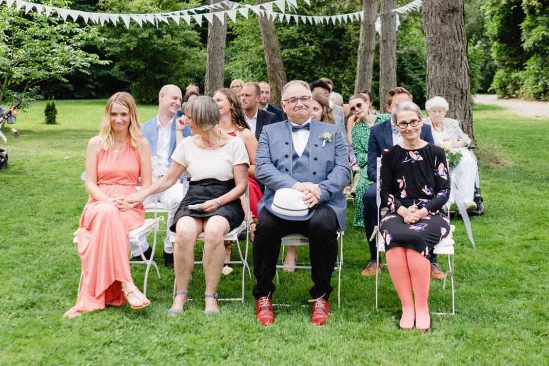 Rührung Eltern Geschwister Hochzeit Trauung