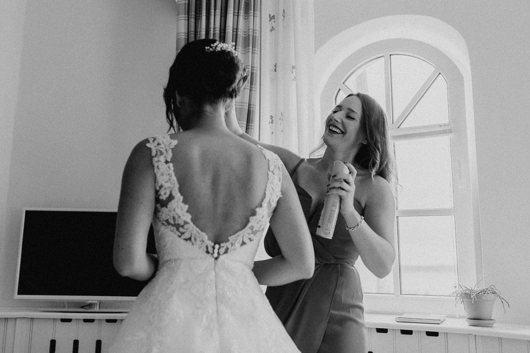 Haarspray Braut im Hotel Strandhotel Glücksburg