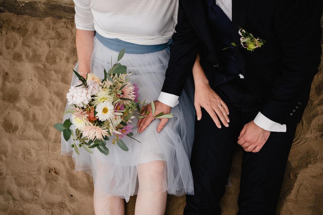 Hochzeit am Elbstrand Hamburg Strandperle