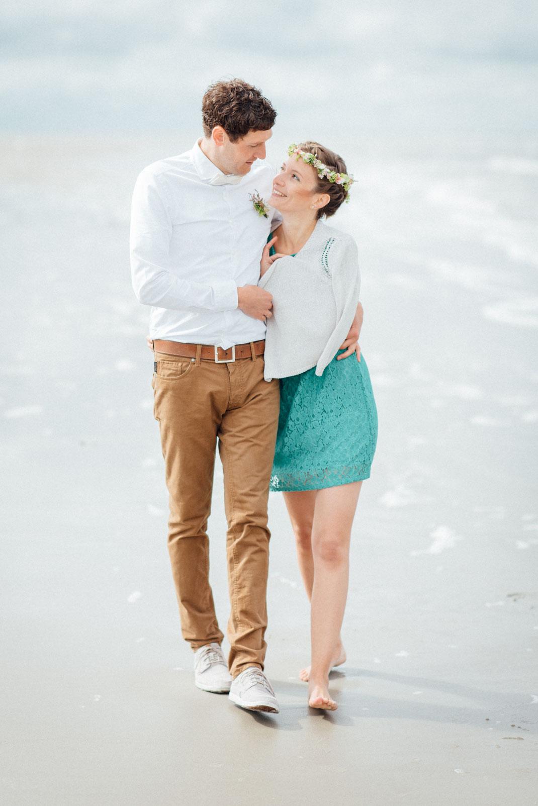 Strand Paar Hochzeit
