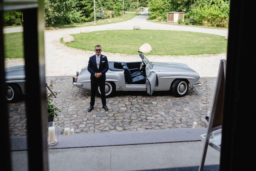 Mercedes SL Vater der Braut