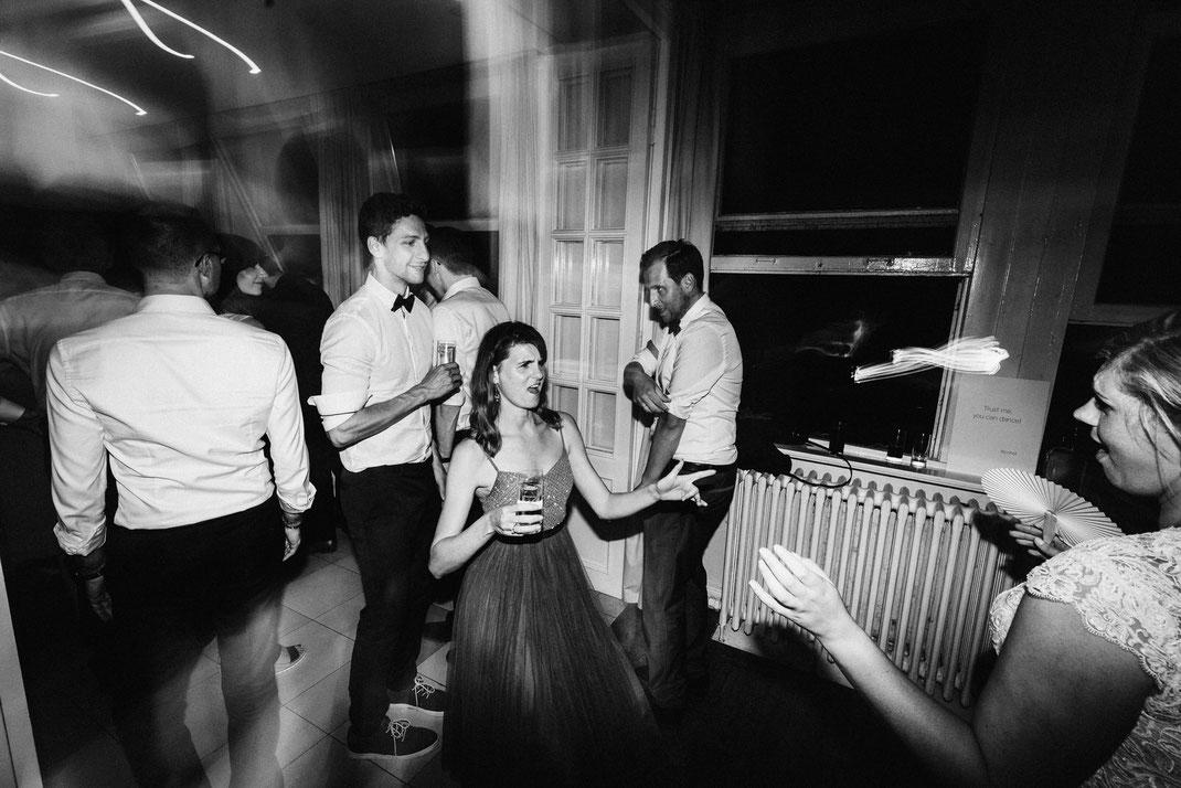 Party Schwarz Weiß Feier