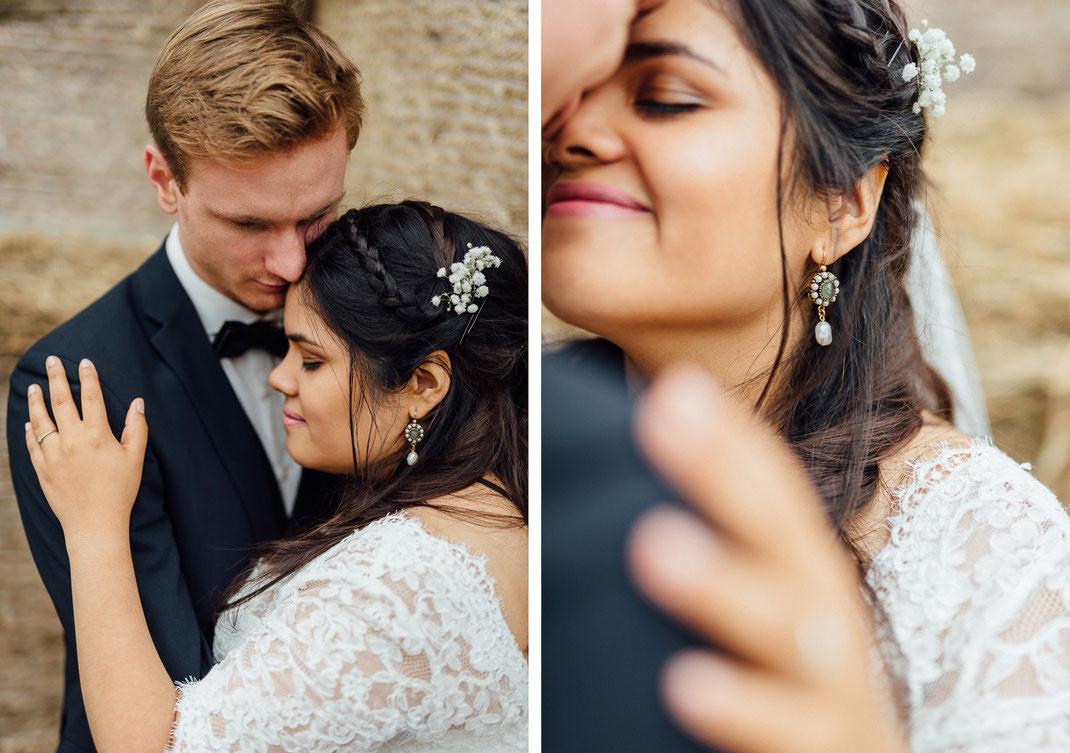 Nah zusammen intim Hochzeit