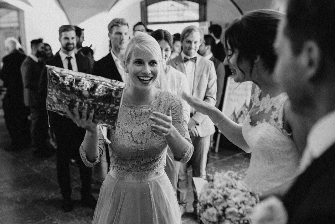 Gratulation bei einer Hochzeit