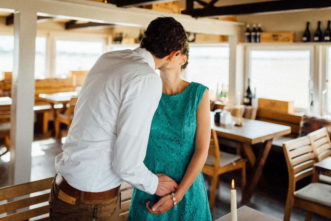 Kuss Hochzeitspaar