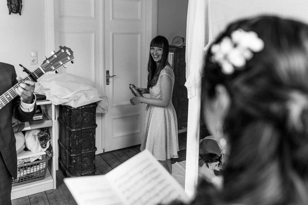 Eine Hochzeit mit Trauzeugen