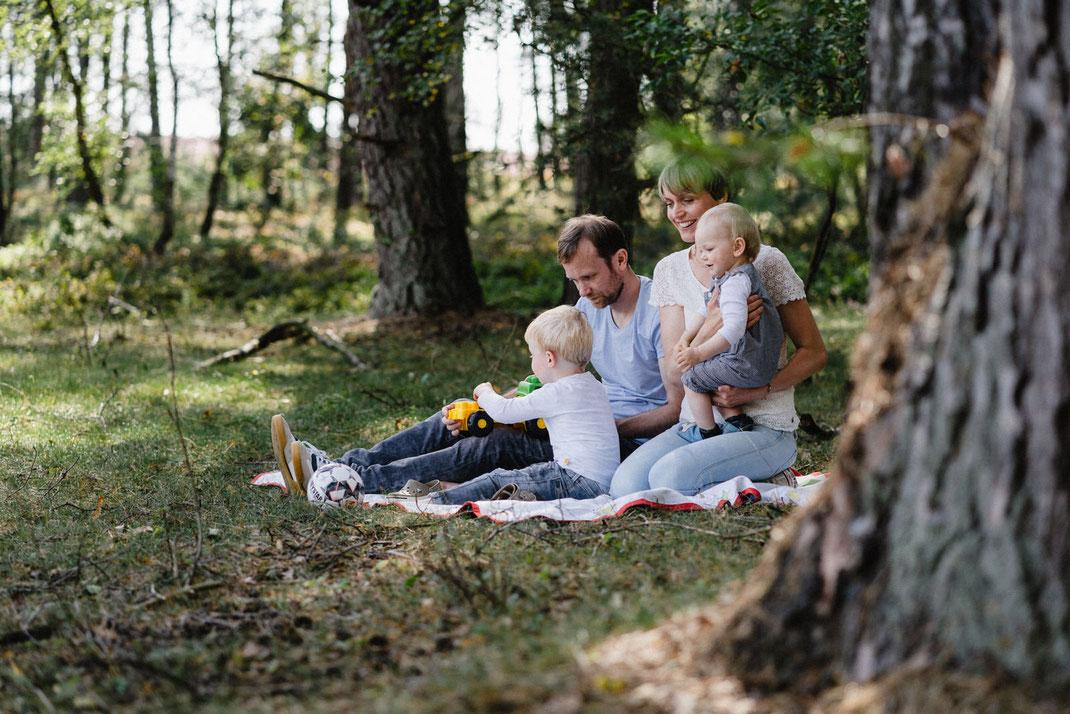 Baum Familie Heide Decke Kinder
