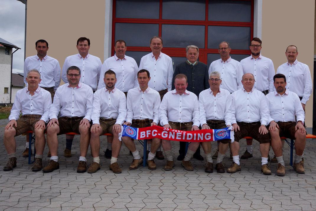 Der Festausschuss mit Schirmherr Loibl Josef sen.