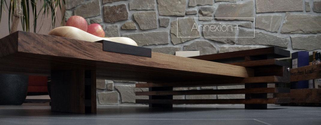 Couchtisch, Wohnzimmertisch aus massivem Holz