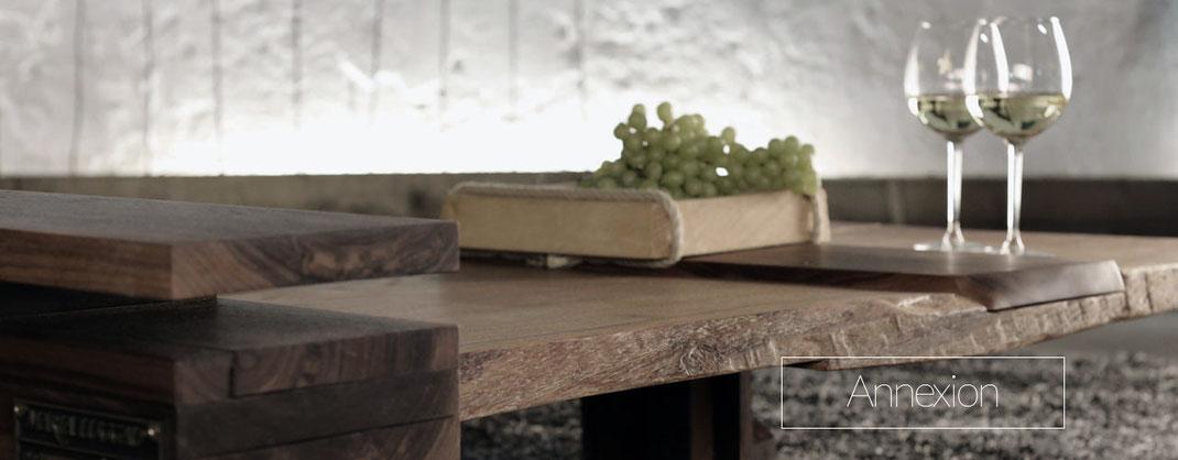 Sofatisch, Couchtisch, Wohnzimmertisch aus Holz, Natürlich geölt