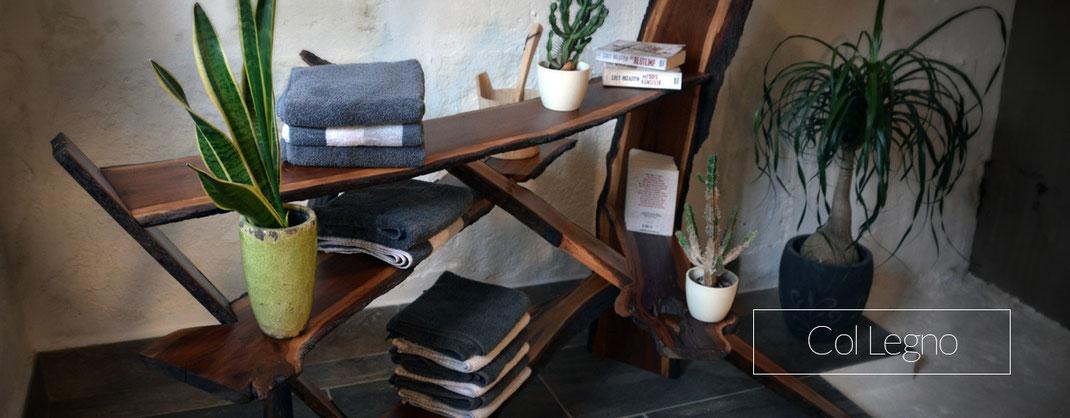 Regal für den Wellnessbereich, Saunaregal aus Holz