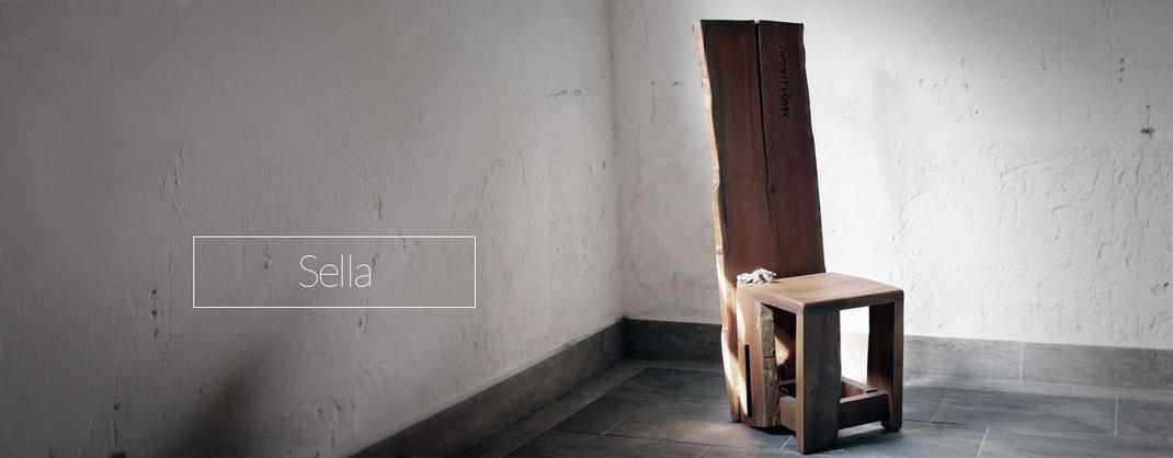 Stühle, Holzstühle aber auch Hocker mit abnehmbarer Lehne
