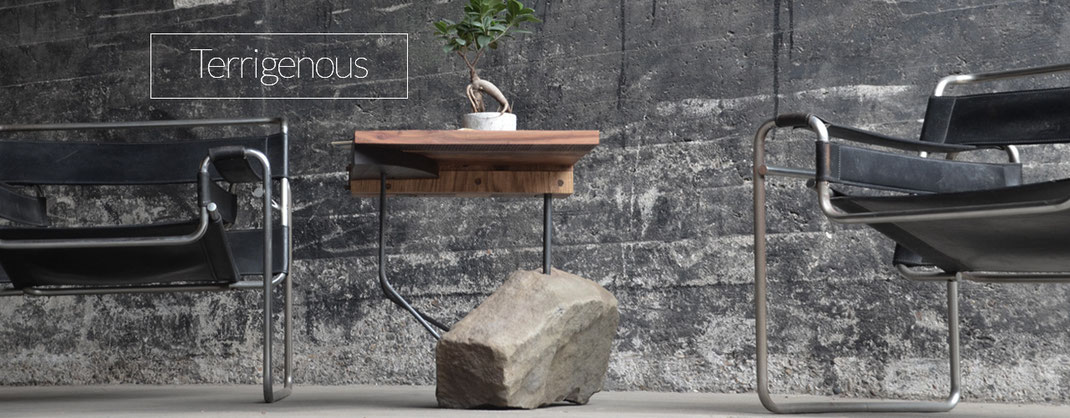 Tisch mit Standfuss aus Stein, Kunsthandwerk