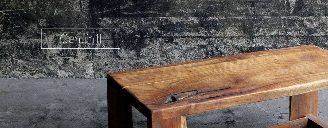 Holzsitzbank, Handgefertigt