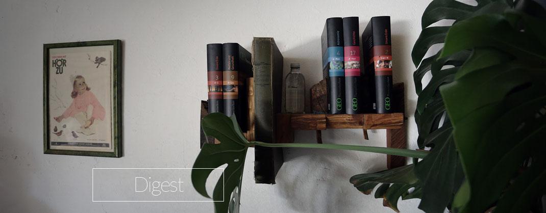Bücherregal aus rustikalem Holz