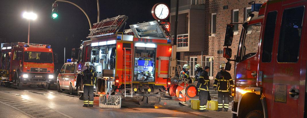 05.01.2017 - Reetdachhaus abgebrannt.