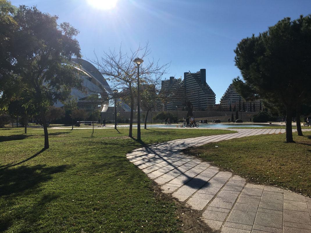 ciudad de las artes y las ciencias bike ride valencia