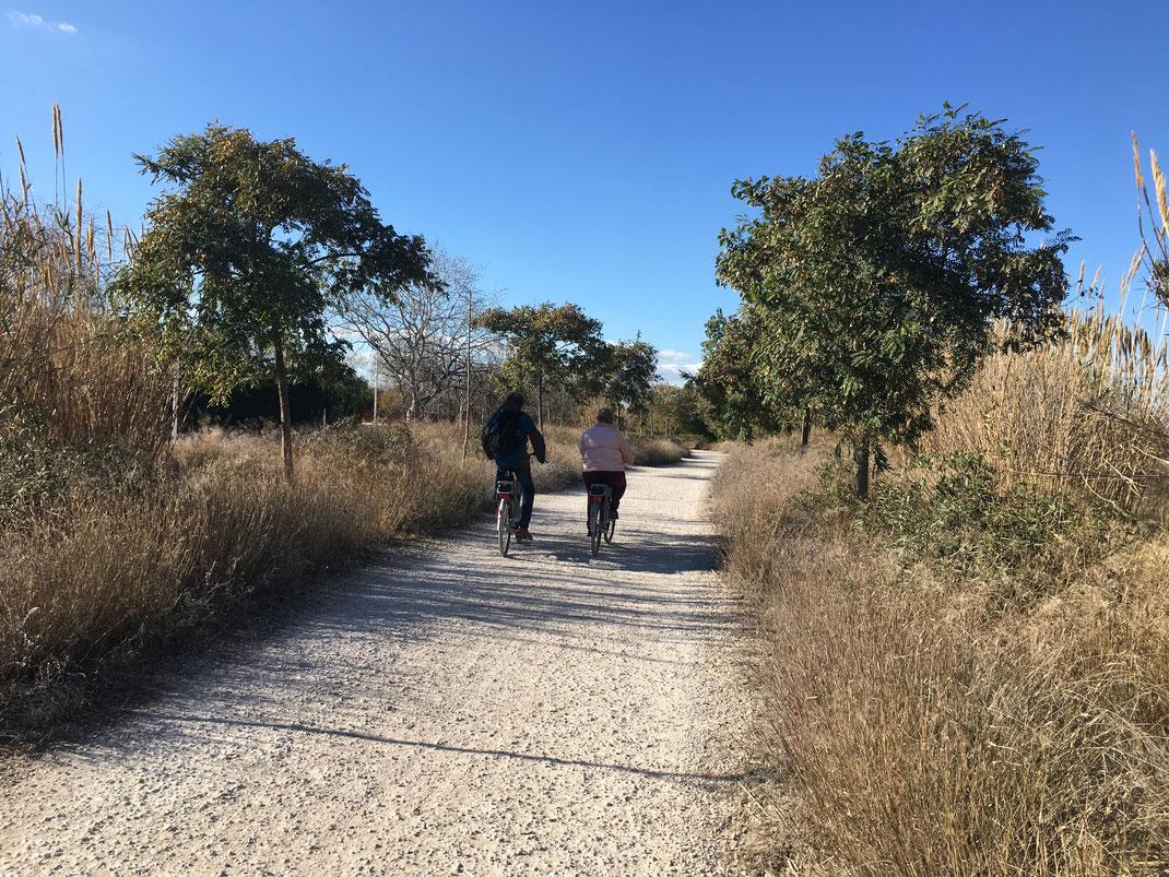 bioparc Valencia - hier rijd je het Turiapark uit, maar is het leuk fietsen op een mountainbikeroute van ca. 20 km