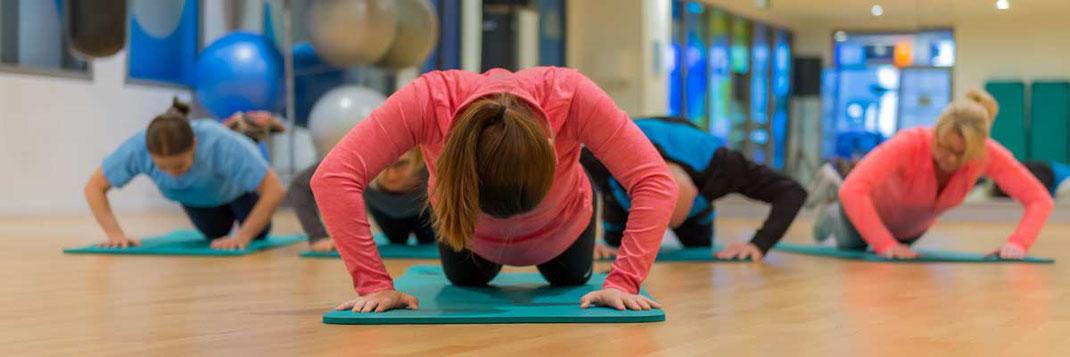Gesundheitskurse wie Yoga oder Pilates im Therapiezentrum Waldheim