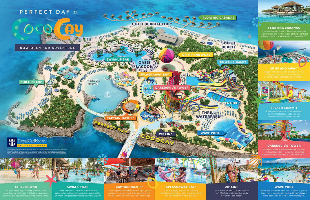 Plan über Perfect Day at CocoCay ©Royal Caribbean