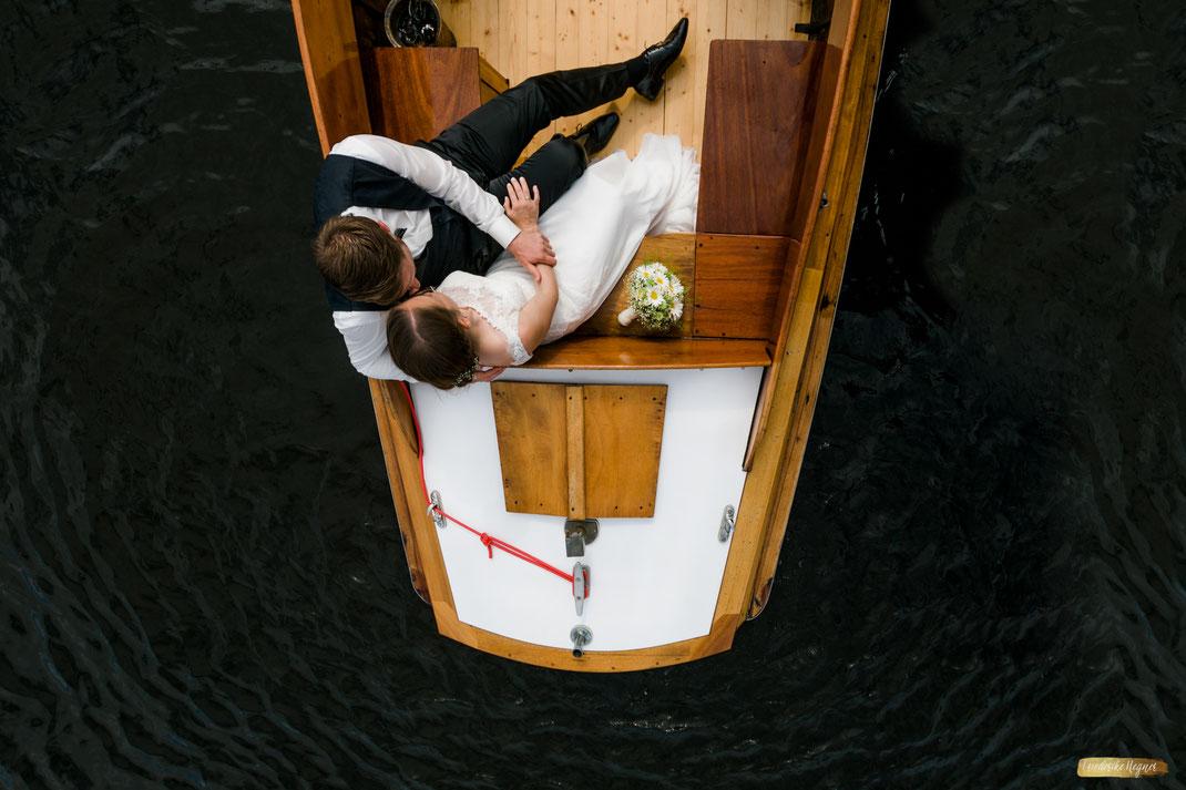 M&H in Liebe und Zweisamkeit auf der Warnow in einem Boot - Sommer 2017
