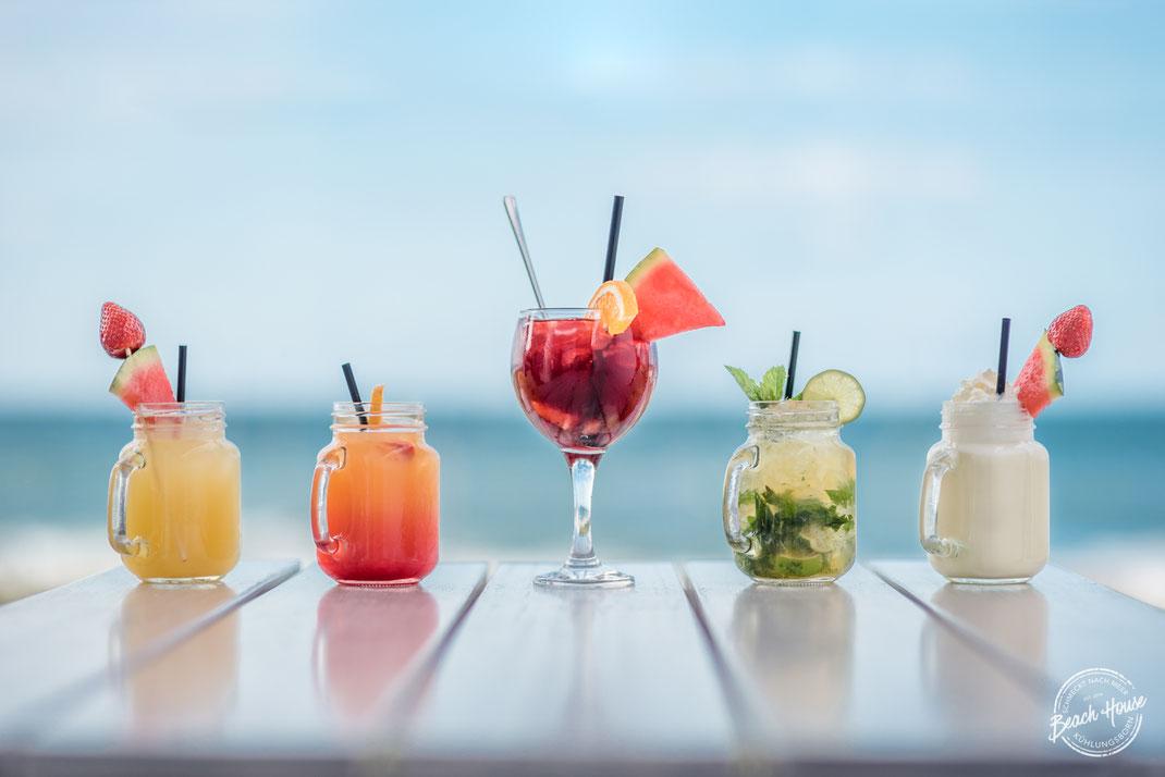 frisch zubereitete Cocktails - Produktfotografie Foodphotography Beach House Kühlungsborn