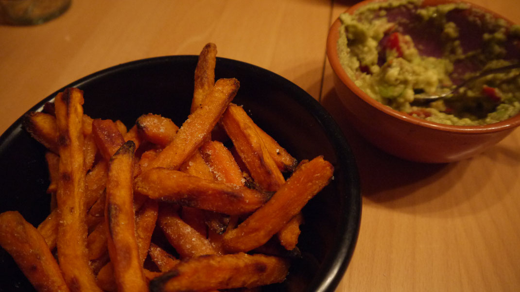 sweetpotato fries guacamole recipe