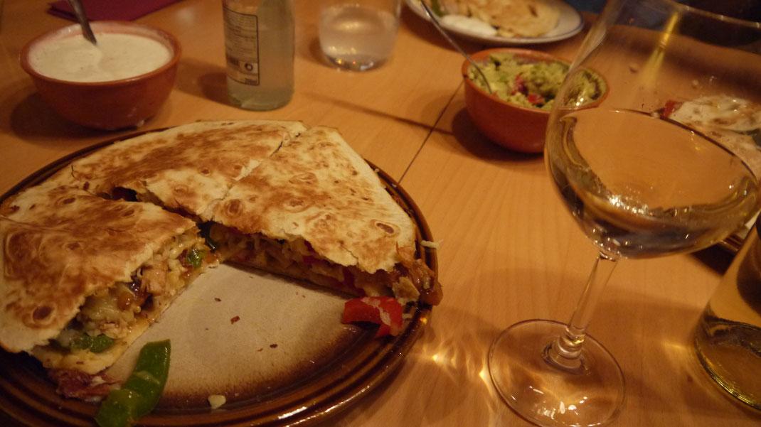quesadillas mexican food wine recipe