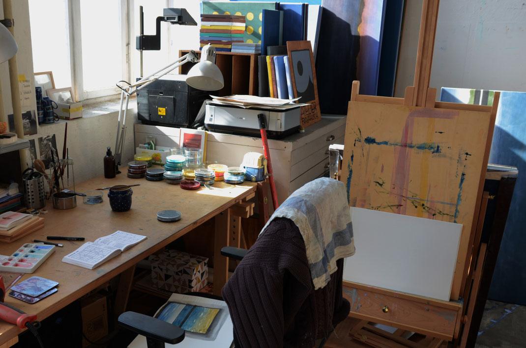 Handgemachte Aquarellfarben, Kunst, Malerei, Atelier, Schreibtisch