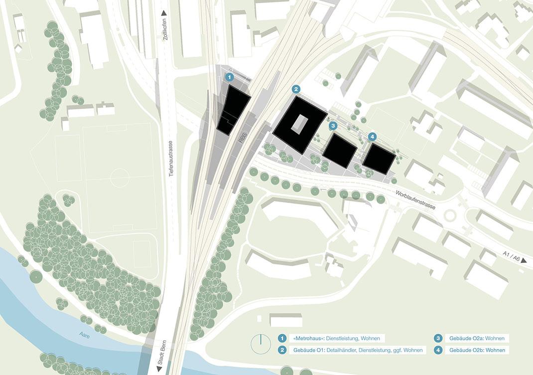 Situationsplan MetroPark, Ittigen-Worblaufen