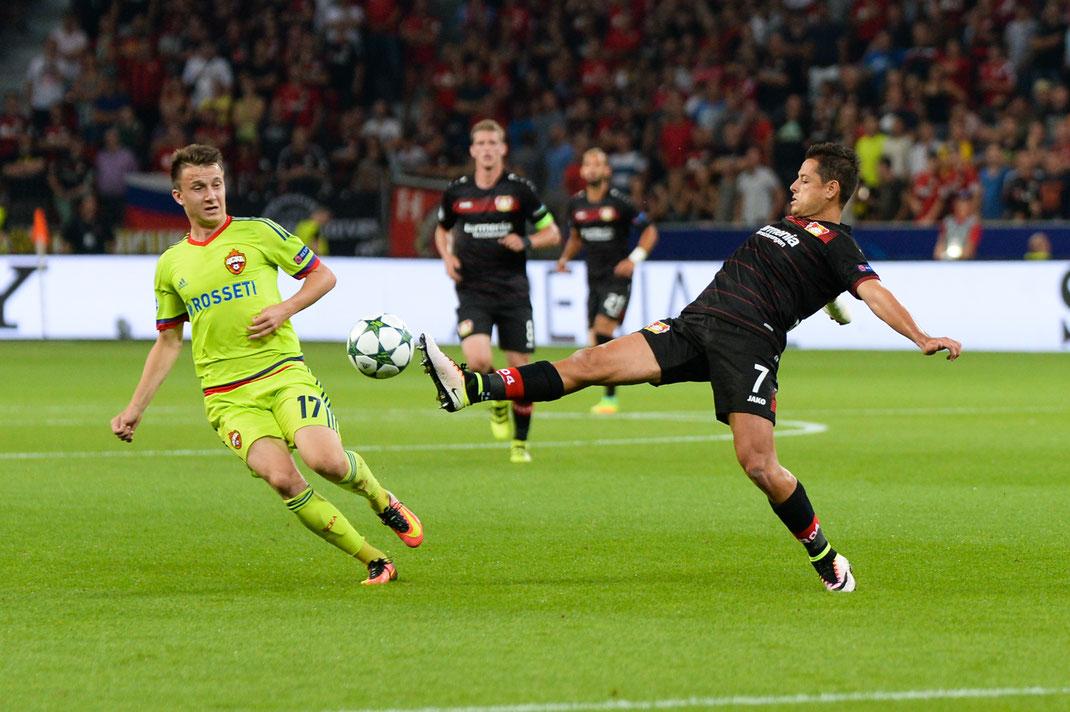 Bayer Leverkusen verspielt eine 2:0-Führung gegen ZSKA Moskau