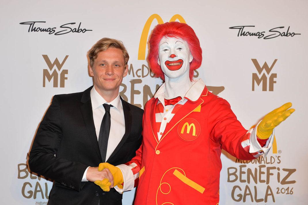 Mc Donald's Benefiz Gala am 21.10.2016 im Bayrischen Hof in München