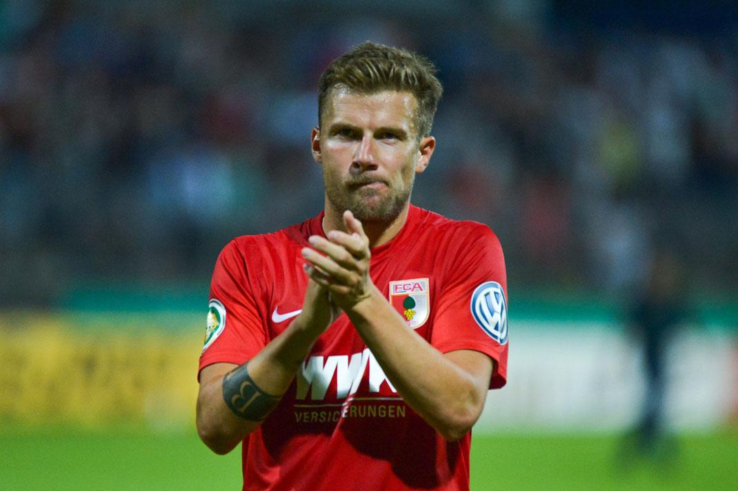 Daniel Baier nach dem Sieg im DFB-Pokal beim SV Elversberg
