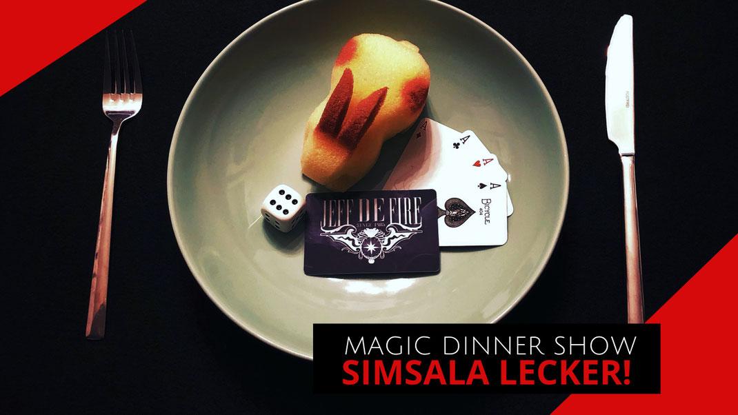 Magic Dinner mit Zauberer Jeff de Fire aus Kiel.