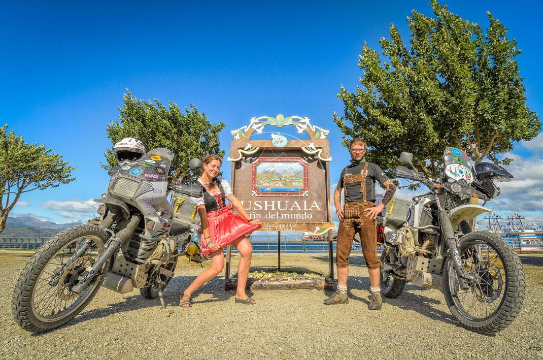 End of the World   Das Ende der Welt   Ushuaia   Tierra del Fuego   Argentina   Motorrad-Abenteuer-Fotografie   Motorcycle ADV Photography   Poster & Leinwände