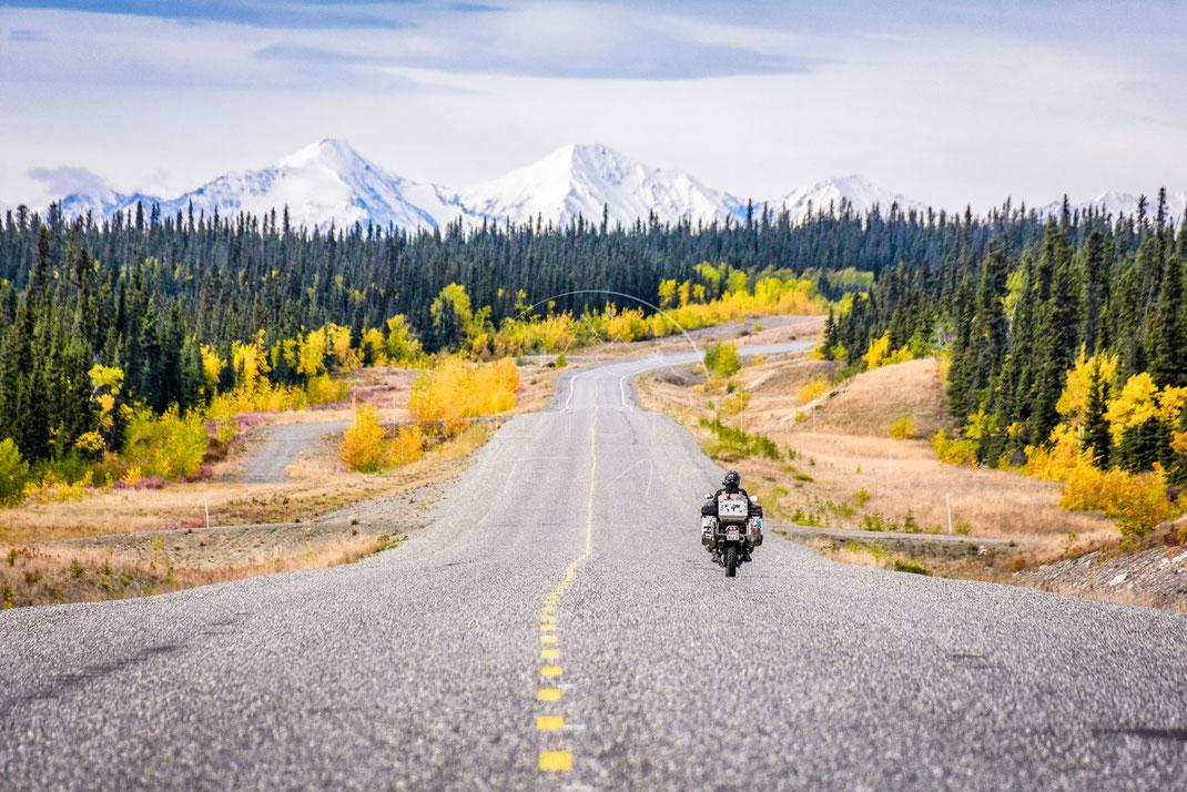 Lonesome Traveller | Der einsame Reisende | Yukon Territory | Canada | Motorrad-Abenteuer-Fotografie | Motorcycle ADV Photography | Poster & Leinwände