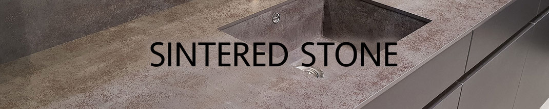Very hard and scratch resistant sintered stone fits well for cladding outdoor barbecue tables and house facades