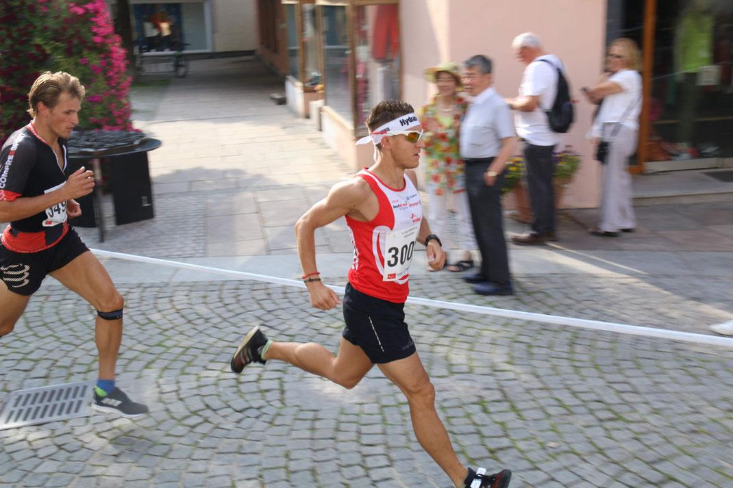 Steffen startete mit einem 4. Gesamtrang über die Halbmarathondistanz in Füssen seine zweite Saisonhälfte (Bild: Veranstalter)