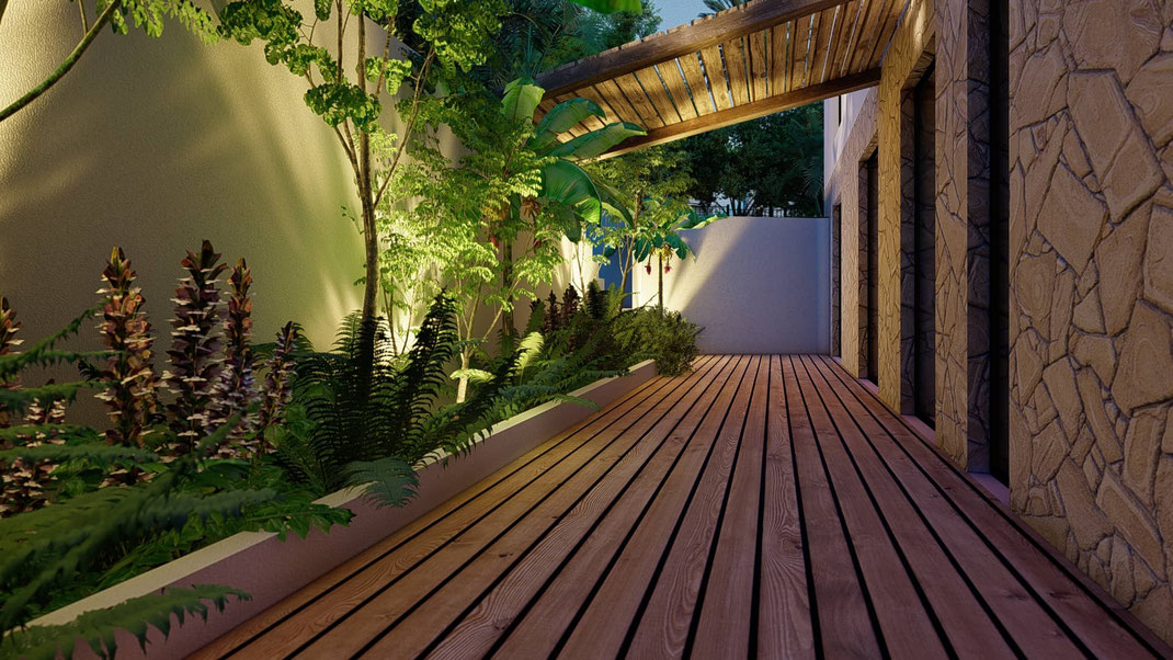jardin patio cap d'antibes