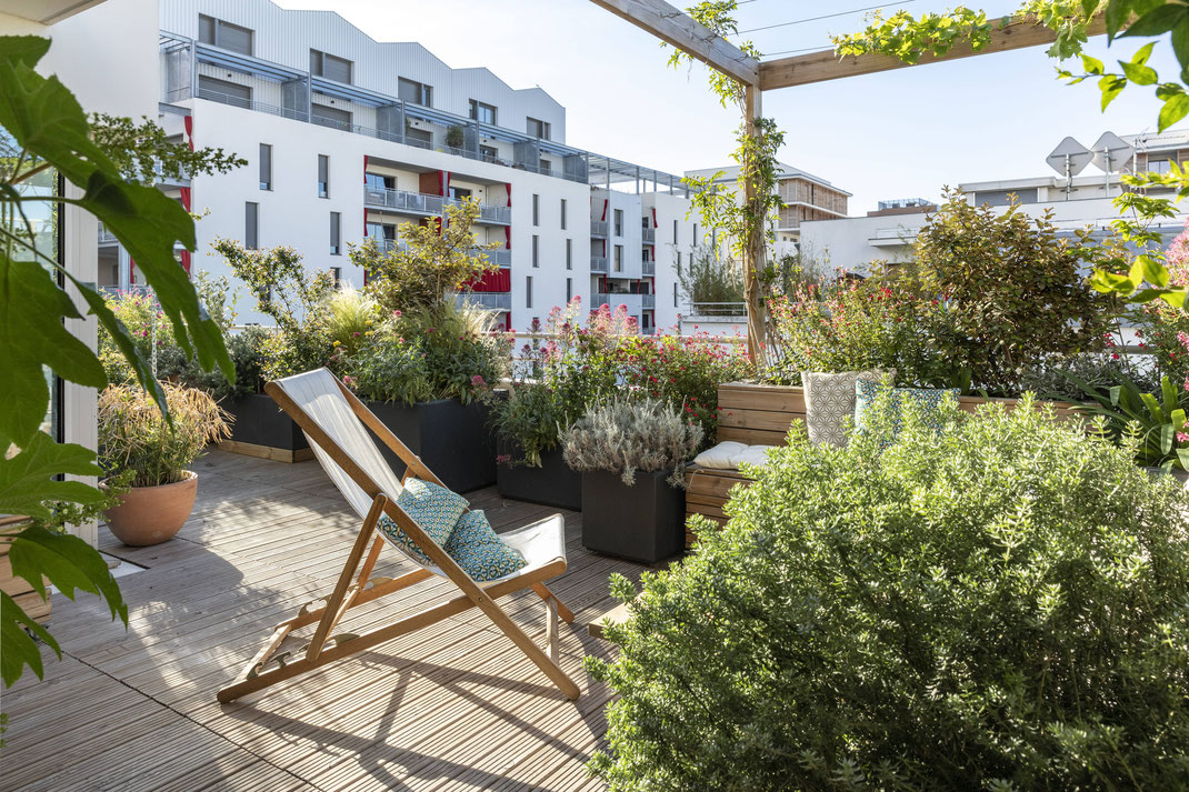 Aménagement d'une terrasse à Marseille