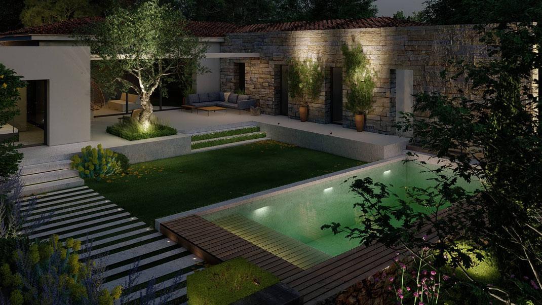 aménagement paysagiste jardin aix en Provence