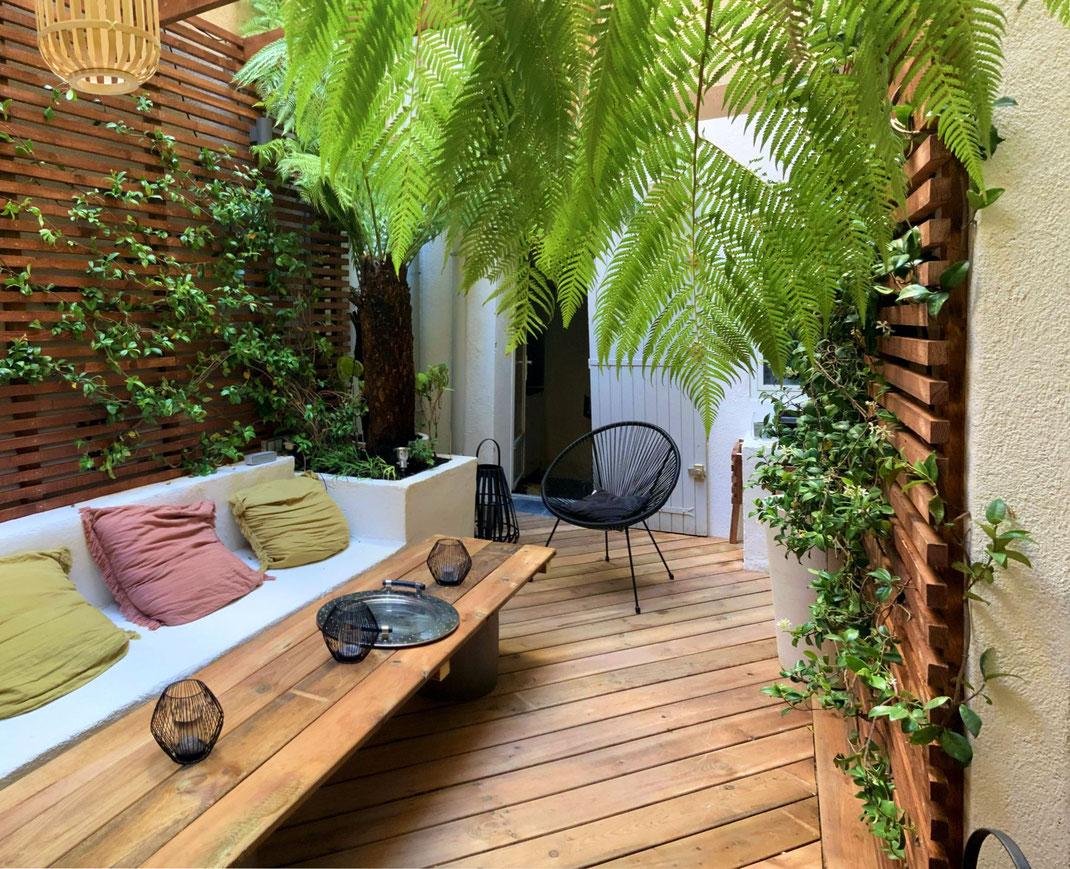 Création d'un patio à Aix