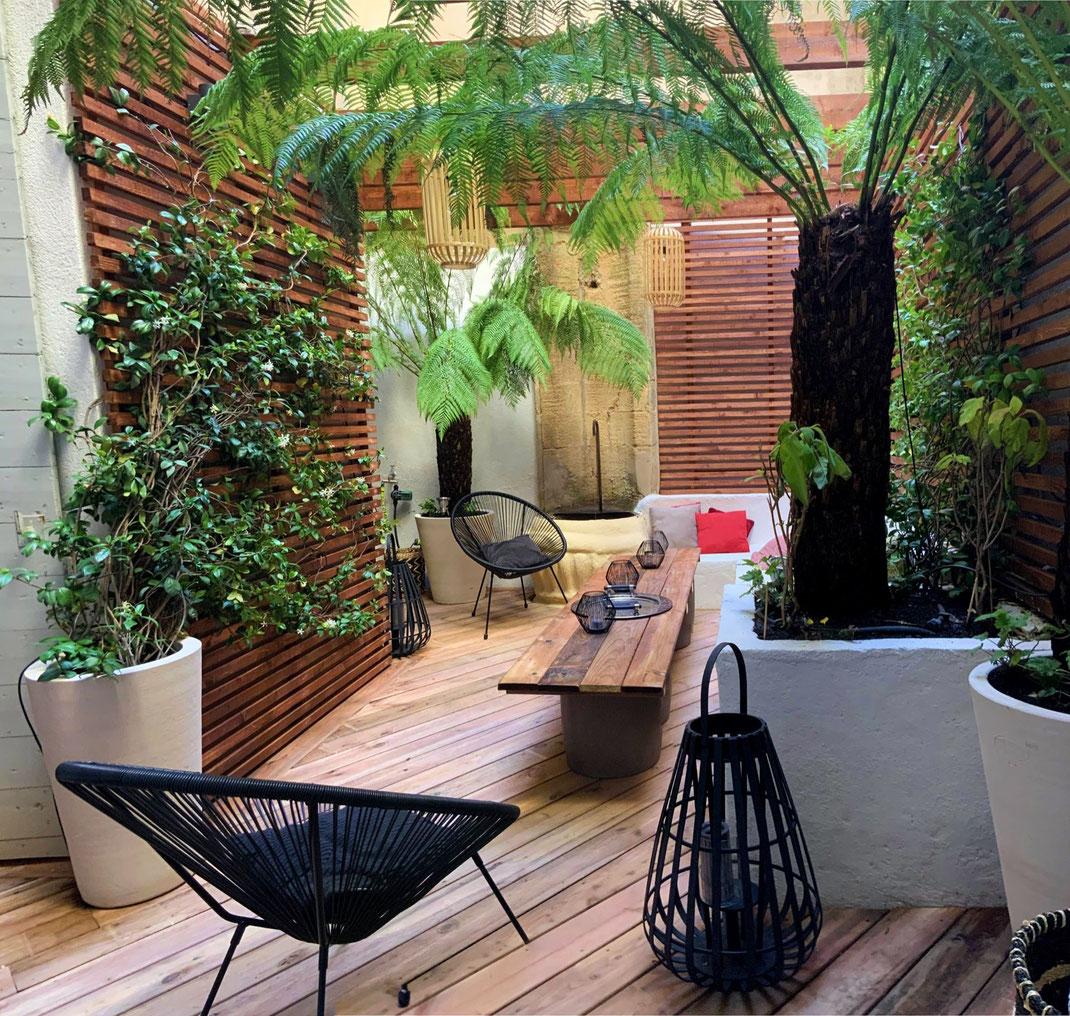 Aménagement d'une terrasse à Aix en provence