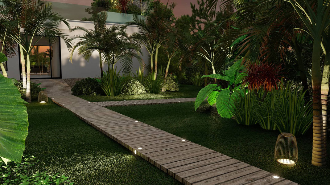 éclairage jardin paysagiste cap d'antibes