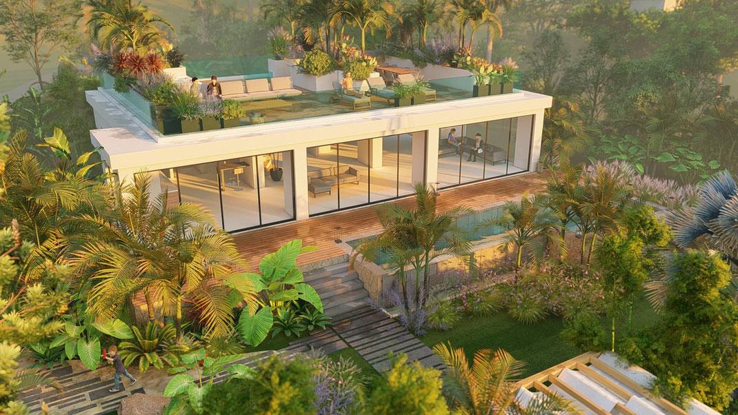 Aménagement jardin paysagiste au Cap d'Antibes